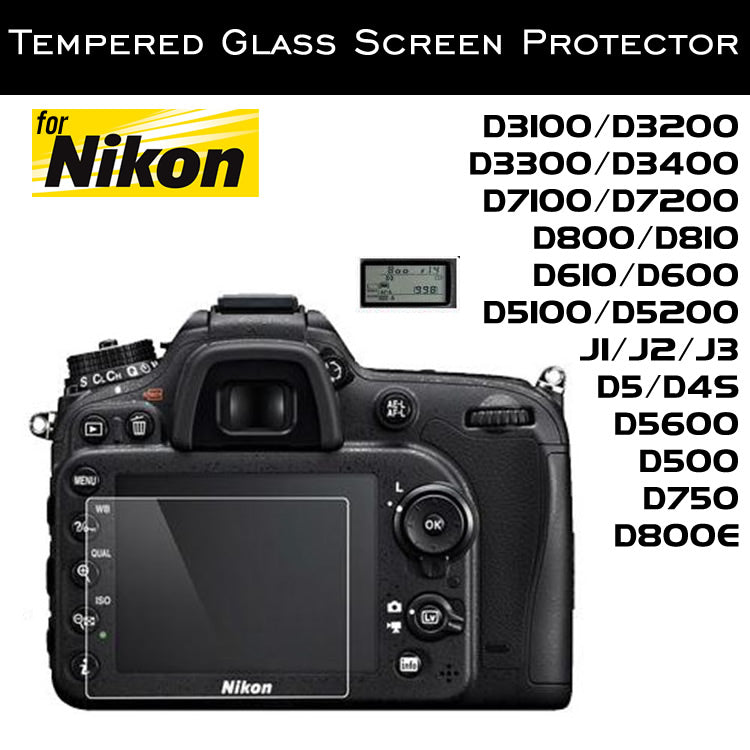 Tempered Glass Screen Protector for Nikon D5300 D5500 J1 J2