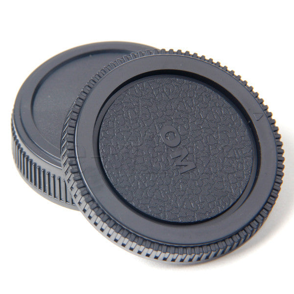 Body and Rear Lens Cover Cap For Olympus OM 4/3