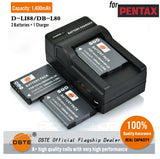 DSTE D-LI88 DB-L80 1400mAh Battery and Charger for Pentax W90 H90 P80 WS80