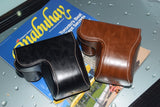 Leather Case Holster for Sony A5100 A5000 with 16-50mm Lens