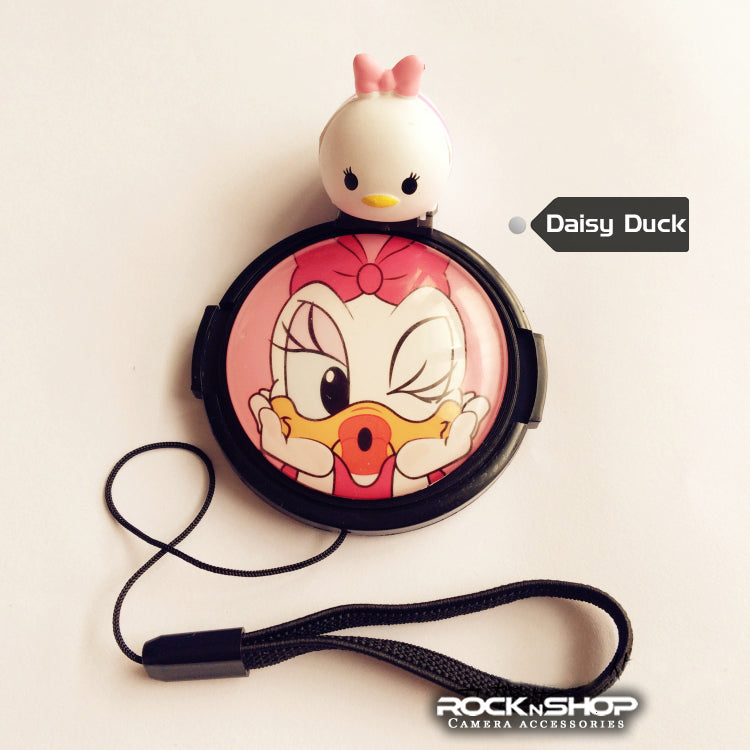 Daisy Duck Cartoon Lens Cap / Hotshoe Cover