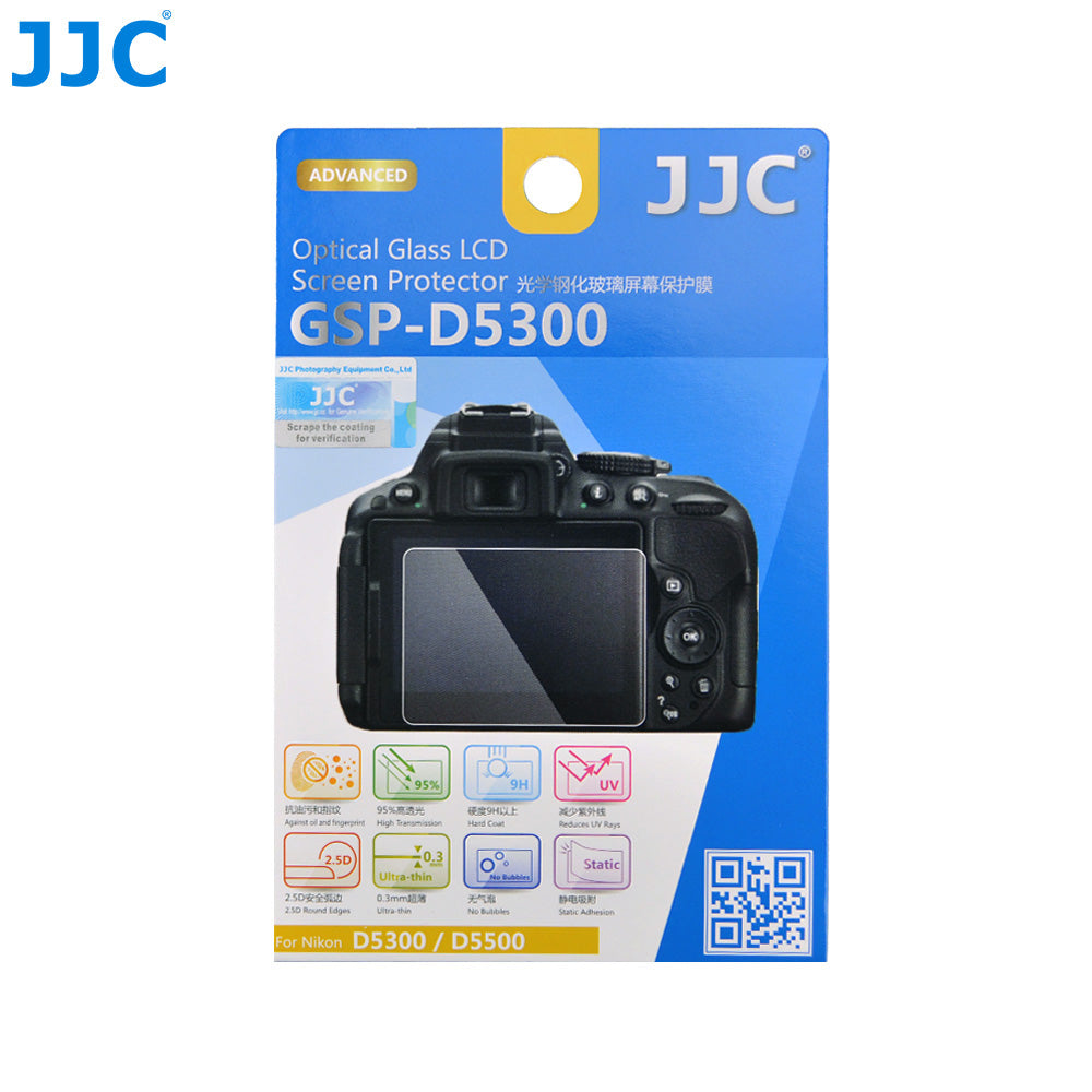 JJC Ultra-thin Glass LCD Screen Protector for Nikon D5300, D5500, D5600