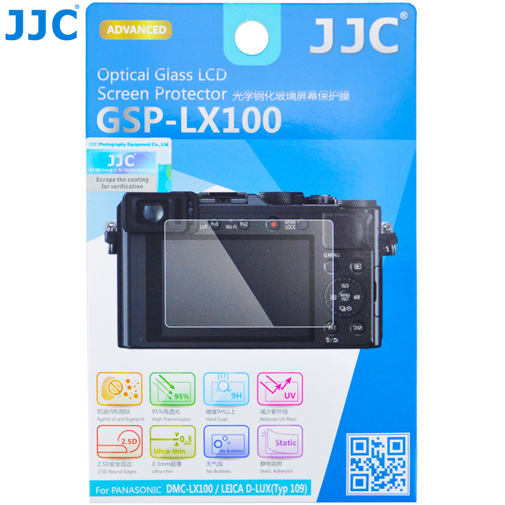 JJC Ultra-thin Tempered Glass LCD Screen Protector for Panasonic LX100