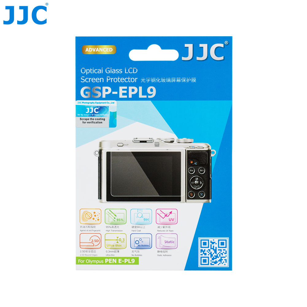 JJC Ultra-thin Glass LCD Screen Protector for OLYMPUS PEN E-PL9