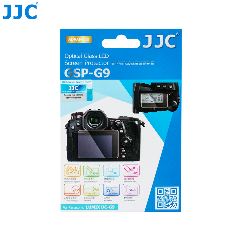 JJC Ultra-thin Glass ScreenProtector for PANASONIC Lumix DC-G9