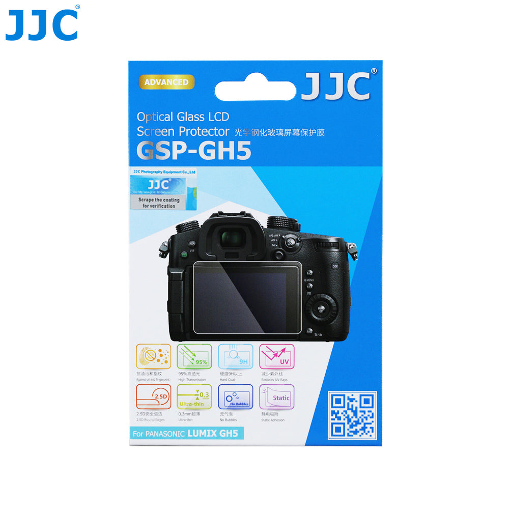 JJC Ultra-thin Glass ScreenProtector for Panasonic Lumix GH5
