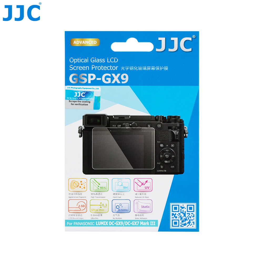 JJC Ultra-thin Glass ScreenProtector for PANASONIC LUMIX DC-GX9/DC-GX7 Mark III