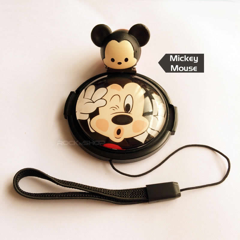 Mickey Mouse Cartoon Lens Cap/ Hotshoe Cover