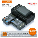 DSTE NB-2LH NB2LH 1,900mAh Battery and Charger for Canon EOS 350D 400D
