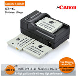 DSTE NB-4L 1,500mAh Battery and Charger for Canon IXUS 100 110 120 130 230 LEGRIAmini