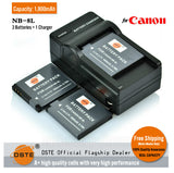DSTE NB-8L 1,800mAh Battery and Charger for Canon A3200 A3100 A3000 A3300