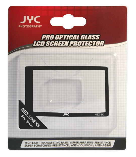 JYC Camera Glass LCD Screen Protector Cover Film for Sony NEX3C/NEX5C