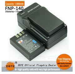 DSTE Replacement NP-140 Battery or Charger for Fujifilm S100 S200 S205EXR