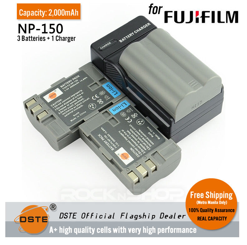DSTE NP-150 2000mAh Battery and Charger for Fujifilm FinePix S5 PRO