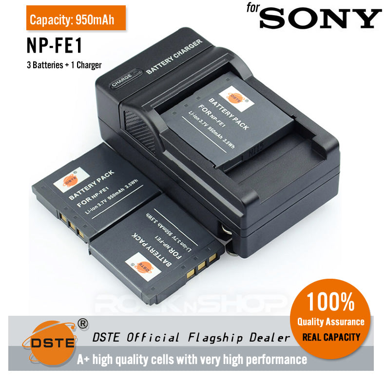 DSTE NP-FE1 950mAh Battery and Charger for Sony Cyber-shot DSC-T7 T7