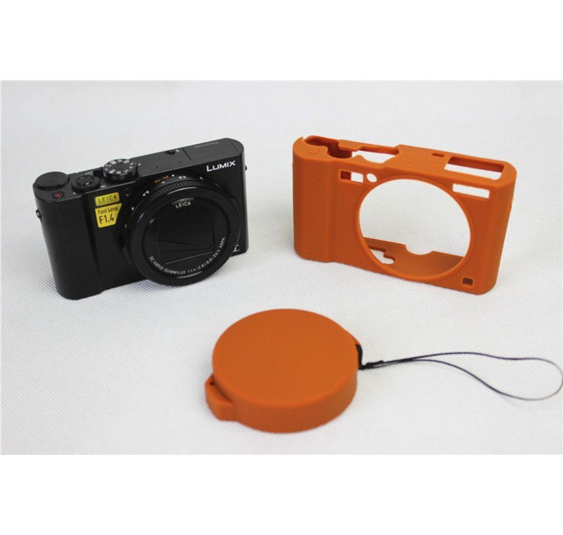 Soft Silicone Armor Protective Body Skin Case Bag Cover for Panasonic DMC-LX10 LX10 Camera