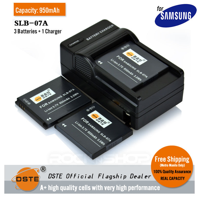 DSTE SLB-07A 1400mAh Battery and Charger For Samsung ST550 ST600