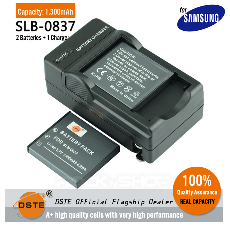 DSTE SLB-0837 1300mAh Battery and Charger for Samsung I6 L50 L60 L700 L73 L80