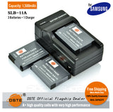 DSTE SLB-11A 1,500mAh Battery and Charger For Samsung WB600 WB1000