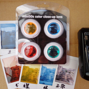 4 Colors Filter Close-Up Lens for Fujifilm Instax Mini 25 Mini 50S