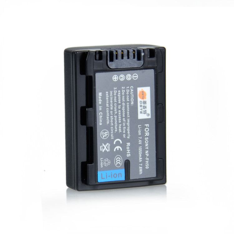 DSTE NP-FH50 1200mAh Battery and Charger for Sony HX100 HX200 A230 A290