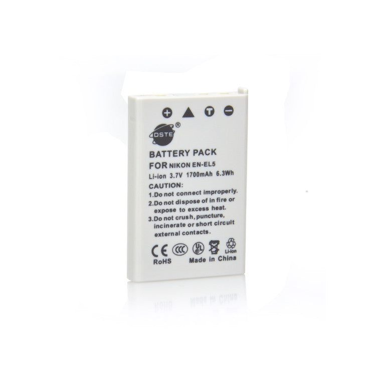 DSTE EN-EL5 1700mAh Battery and Charger for Nikon Coolpix 3700 4200 5200 5900 7900