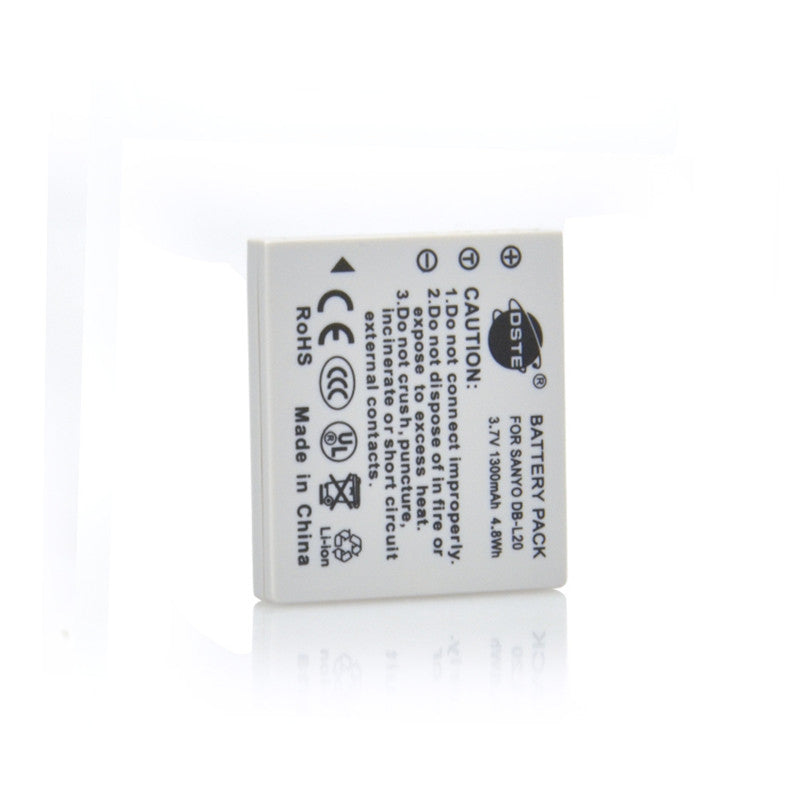 DSTE DB-L20 1,300mAh Battery and Charger For Sanyo L20A C40 CA8
