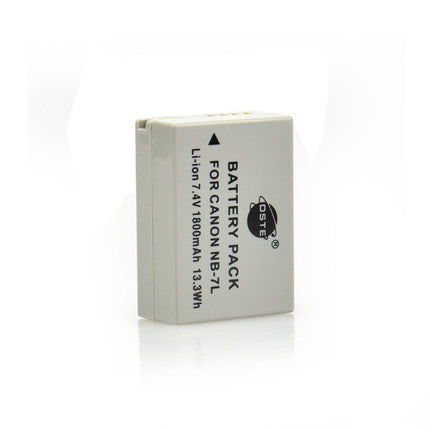 DSTE NB-7L 1,800mAh Battery and Charger for Canon G10 G11 G12 SX30IS