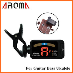 Aroma AT-100 Portable Black Clip-on Electric Tuner Universal
