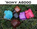 Leather Case Holster for Sony A6000 16-50MM Lens