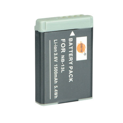 DSTE NB-13L 1500mAh Battery and Charger For Canon G7X