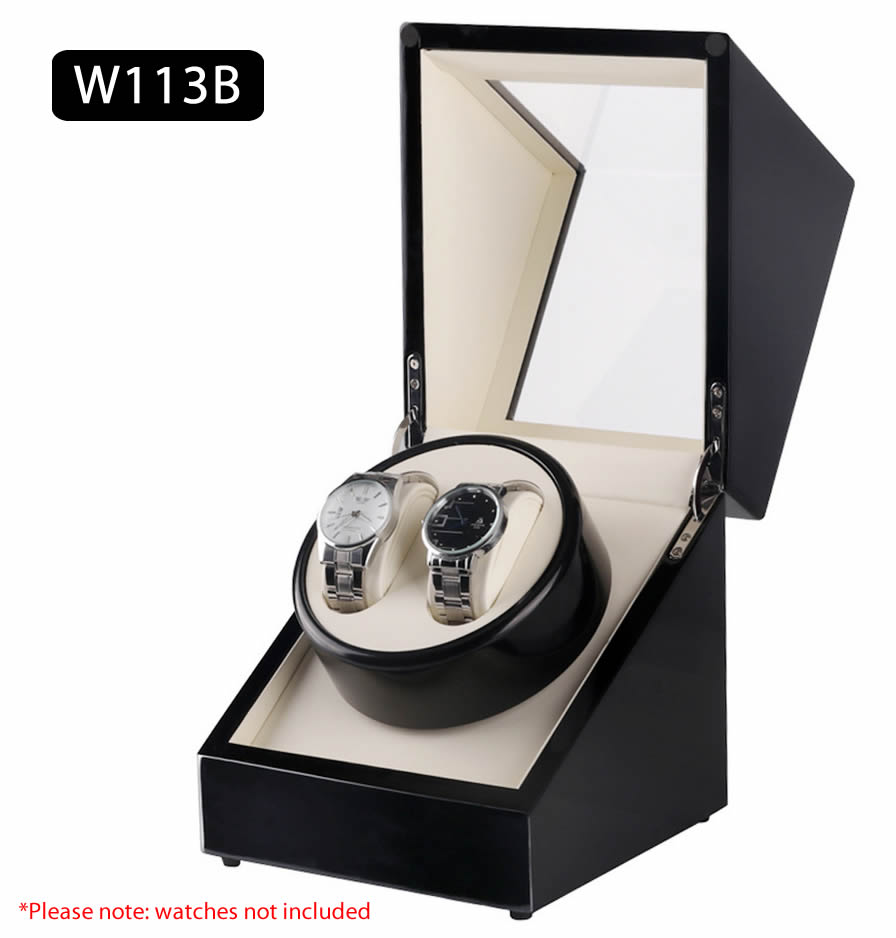 TAIYU Single Head 2 Slots Lacquer Wood Electric Watch Winder Display Box Silent Motor HQ