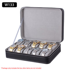 10 Slots Watch Leather Jewelry Storage Box