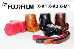 Leather Case Holster for Fujifilm X-A1 X-A2 X-M1