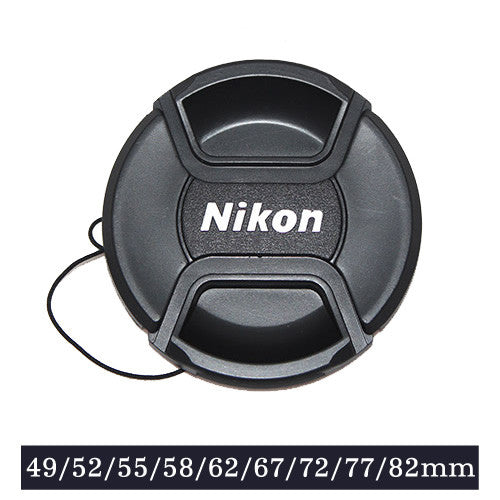 Snap-on Lens Cap Cover with Cord for Nikon