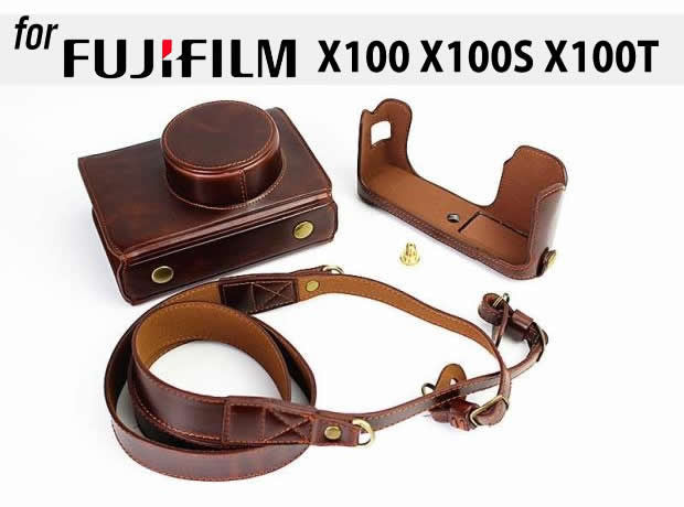 Leather Case Holster for Fujifilm X100 X100S X100T (Hard Cover Version)