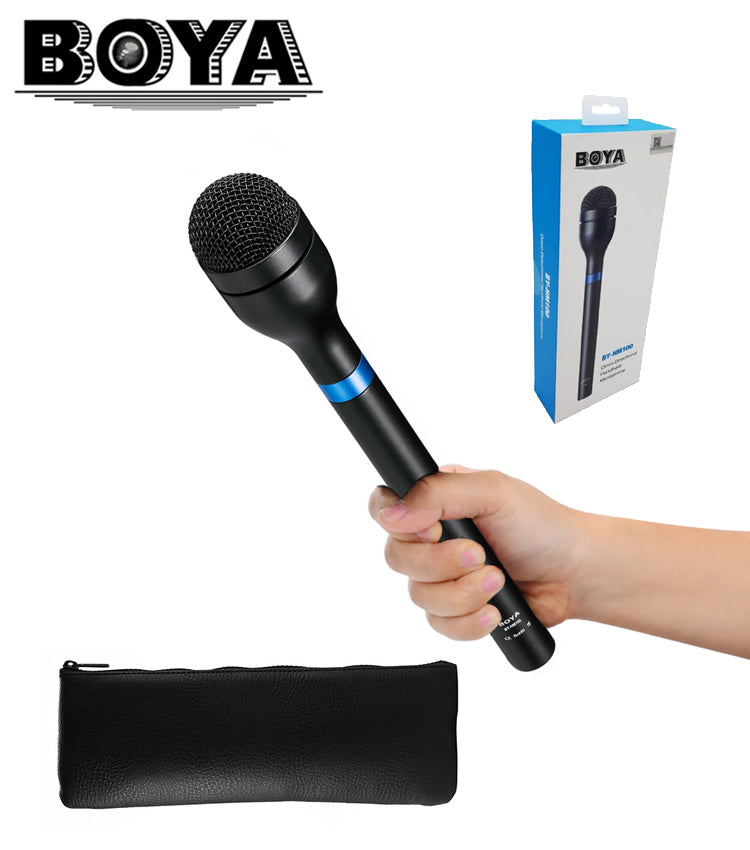 BOYA BY-HM100 Handheld Dynamic Microphone For Interview & News Gathering