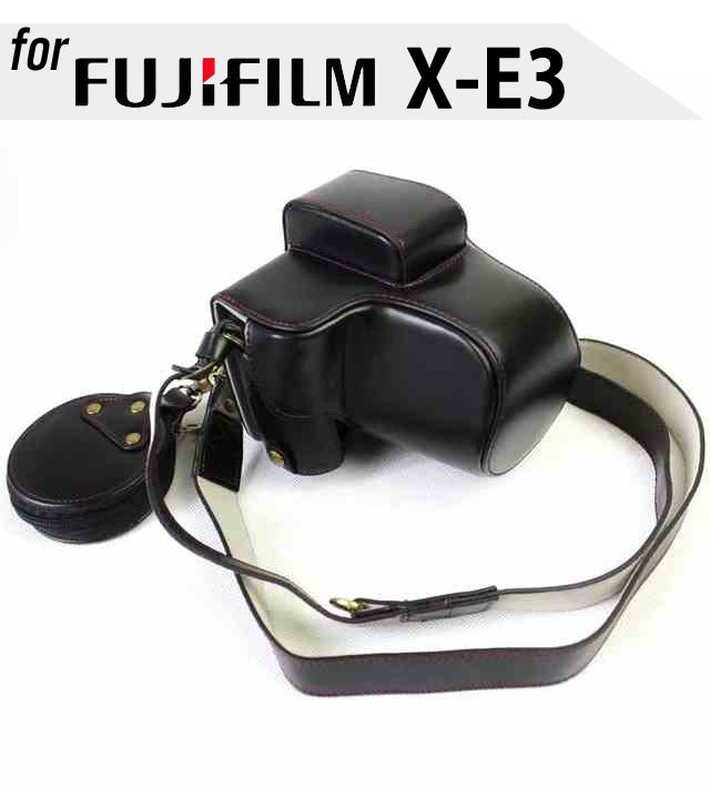 Leather Case Holster for Fujifilm X-E3 with xf23mm Lens