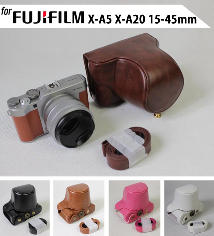 Leather Case Holster for Fujifilm X-A5 X-A20 with 15-45mm Lens