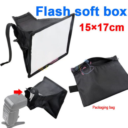 15 x 17cm Flash Diffuser Camera Mini Soft box For External Speedlight SB910 SB900 SB800 SB700 SB600 S25
