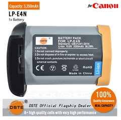 DSTE LP-E4N Battery for Canon EOS-1D X EOS-1D X Mark II EOS-1D Mark III EOS-1D Mark IV EOS-1Ds