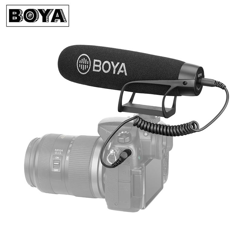BOYA BY-BM2021 Shotgun Microphone for Smartphone DSLR Camera