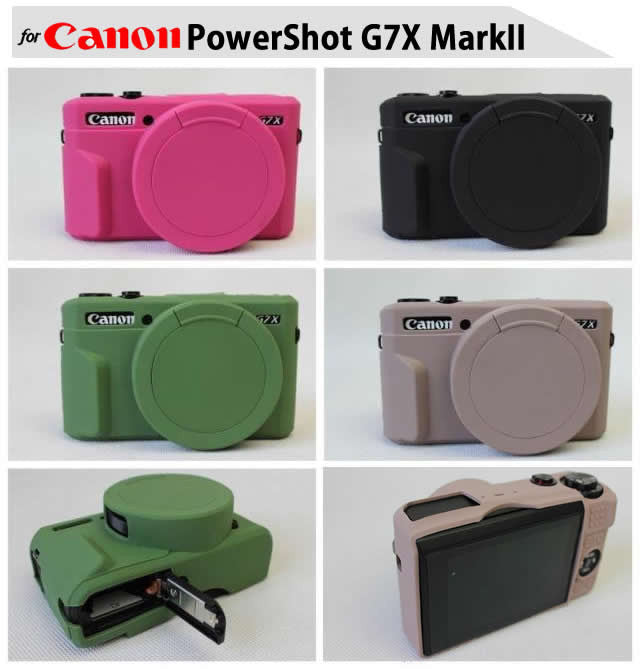 Silicone Rubber Case for Canon G7X II