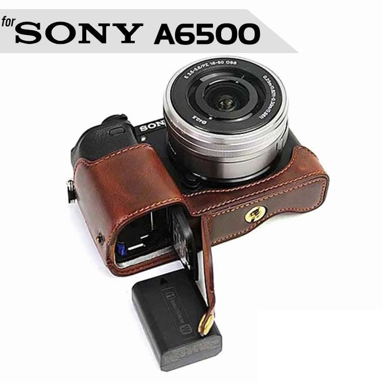 Leather Half Case for Sony A6500
