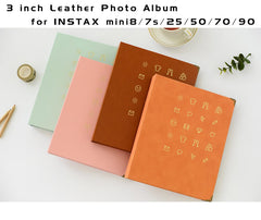 3 inch Leather Photo Album for Fujifilm Instax Mini | 150 pockets