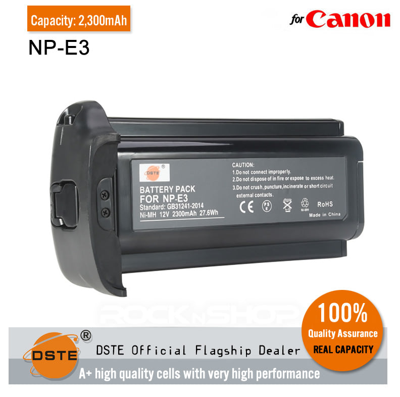 DSTE NP-E3 Ni-MH Battery for Canon EOS-1D EOS-1D Mark II EOS-1D Mark II N