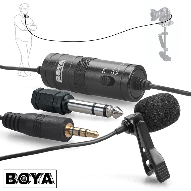BOYA BY-M1 Omnidirectional Camera Lavalier Condenser Microphone Mic for DSLR iPhone Smartphones