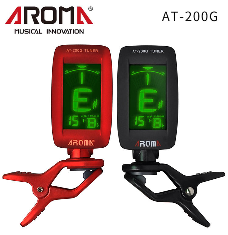AROMA AT-200G Clip-on Electric Tuner 3 Color Backlit Screen for Zither Player