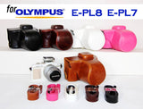 Leather Case Holster for Olympus E-PL8 E-PL7