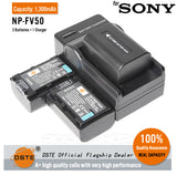 DSTE NP-FV50 1300mAh Battery and Charger for Sony HDR-PJ260E PJ600E PJ580E PJ760E PJ600E PJ50E PJ200E
